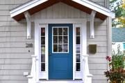 Фото 8 Как сделать козырек над крыльцом (61 фото): создаем красивый вход в дом