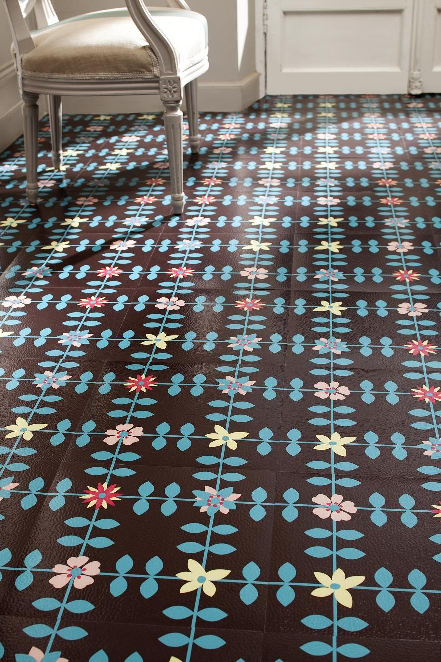 Виниловая плитка с цветами