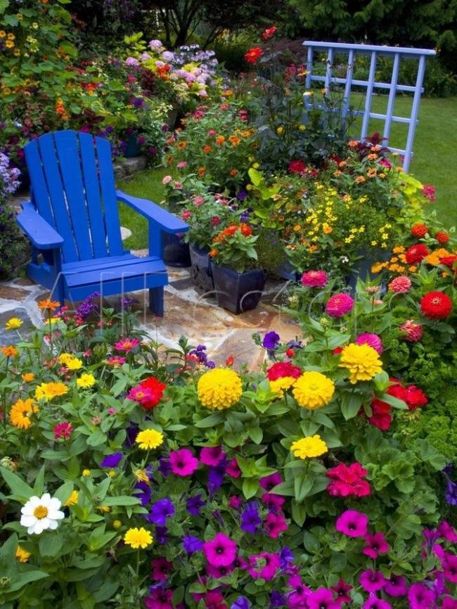 Миксбордер в саду