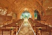 Фото 2 Связь прошлого с будущим в японской свадебной часовне. Шикарная ручная резьба по дереву.