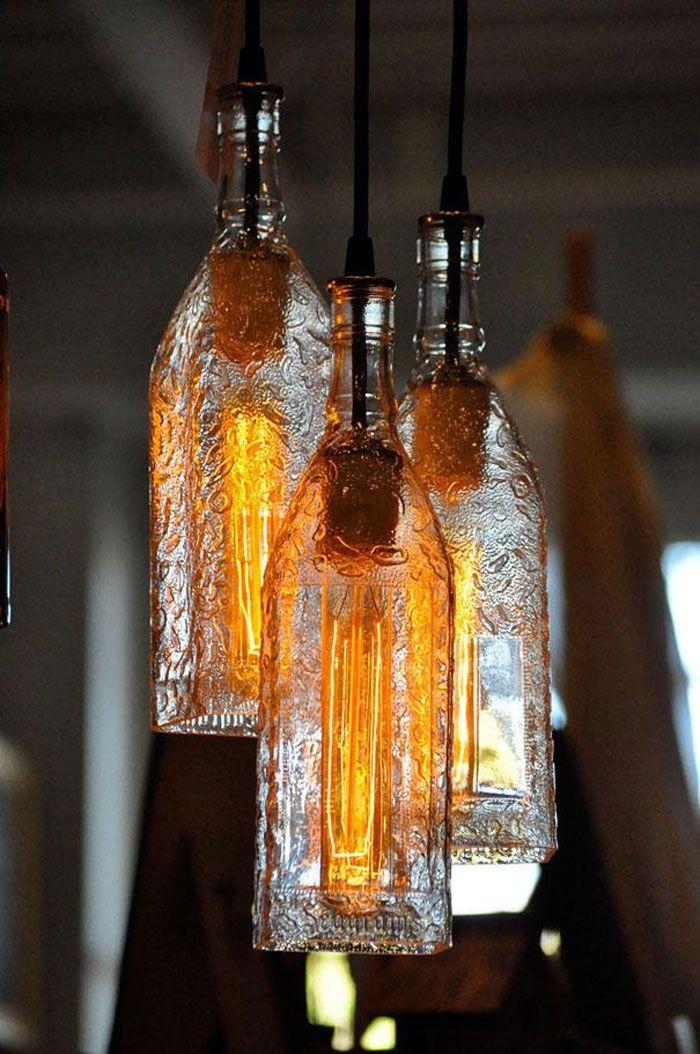 Фото светильник из бутылки своими руками