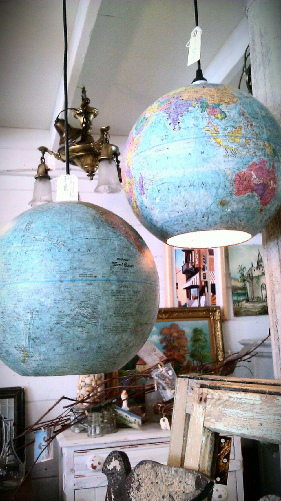 Как украсить настольный глобус своими руками