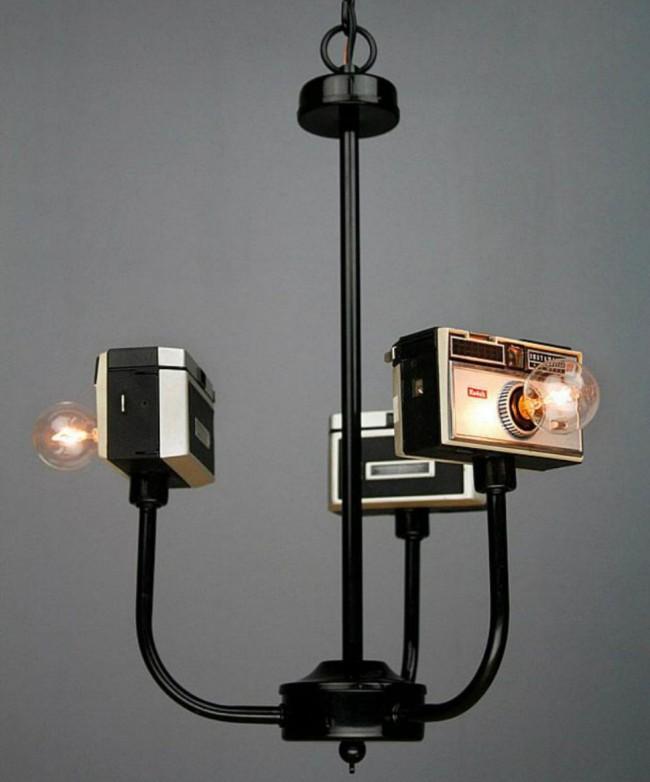 Плафоны из ретро-фотокамер