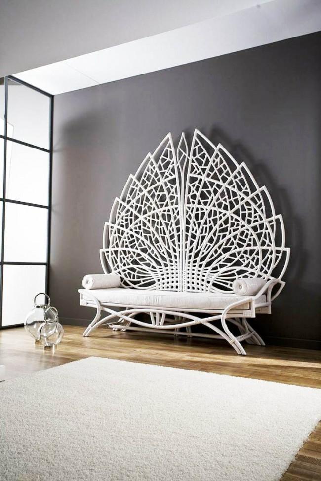 Великолепный диван из ротанга