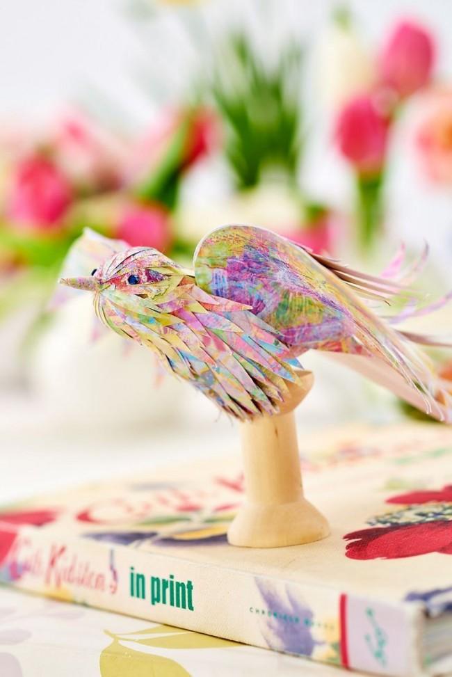 Птичка из папье-маше