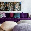 С какими цветами сочетается фиолетовый, лучшее его применение в интерьере фото
