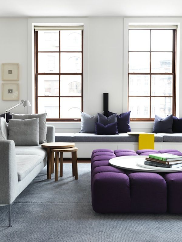 Серый и фиолетовый - сдержанность и стиль