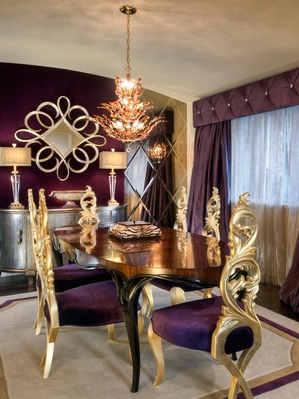 Шик и роскошь фиолетово-золотистого сочетания