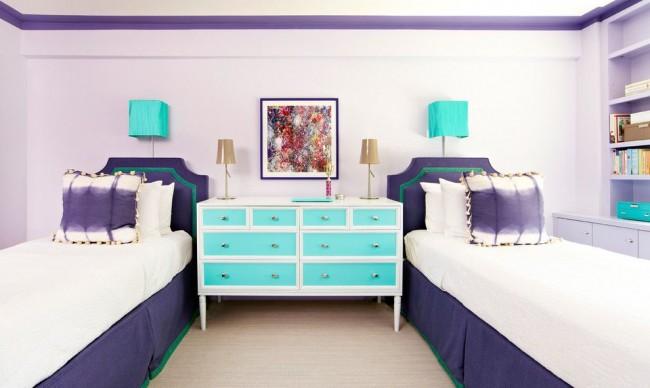 Свежесть и романтичность в фиолетово-бирюзовом сочетании