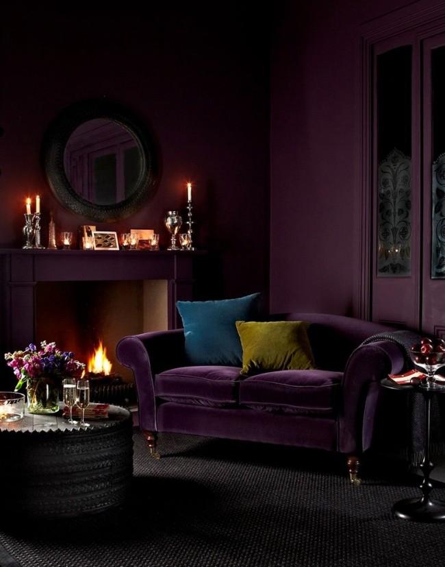 Мистическая роскошь в сочетании фиолетового и черного цветов