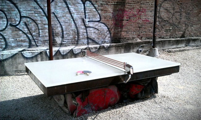 Стационарный стол для уличного тенниса