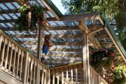 Фото 5 Терраса из поликарбоната, пристроенная к дому (53 фото): варианты размещения и основные этапы строительства