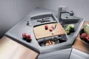 Фото 4 Угловая мойка для кухни (45 фото): интересное решение при нехватке пространства