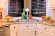 Фото 5 Угловая мойка для кухни (45 фото): интересное решение при нехватке пространства