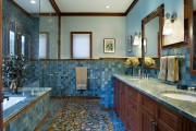 Фото 17 Душевые ограждения из стекла без поддона (55 фото): стиль и воздушность ванной комнаты