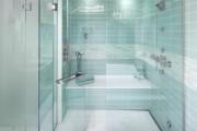 Фото 13 Душевые ограждения из стекла без поддона (55 фото): стиль и воздушность ванной комнаты