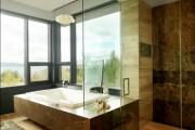 Фото 4 Душевые ограждения из стекла без поддона (55 фото): стиль и воздушность ванной комнаты