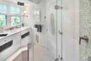 Фото 23 Душевые ограждения из стекла без поддона (55 фото): стиль и воздушность ванной комнаты