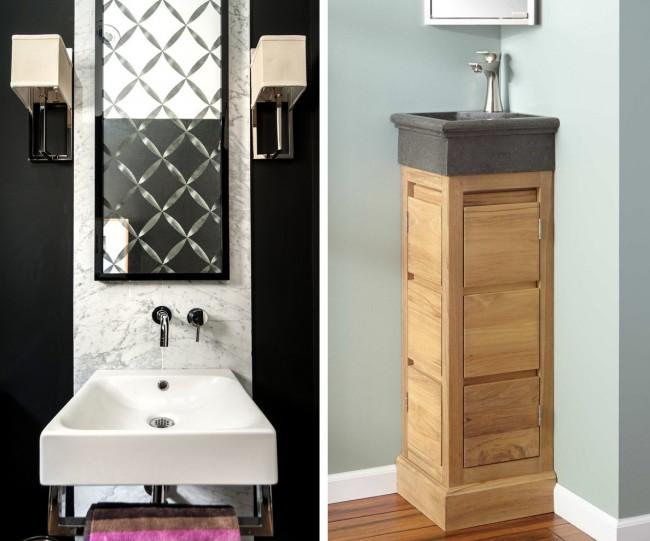 Гигиенический душ для унитаза со смесителем. Угловой и фронтальный варианты раковин для мытья рук в малогабаритном туалете
