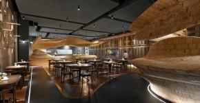 Студия Weijenberg разработала дизайн ресторана из древесины в Тайбэе фото