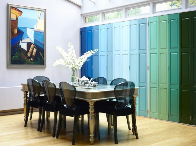 Ставни на окна. Внутренние ставни можно даже сделать центральным элементом декора в дизайне всего помещения