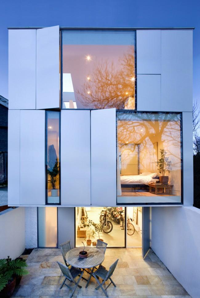 Ставни на окна. Идея ставней отлично вписывается в современную архитектуру