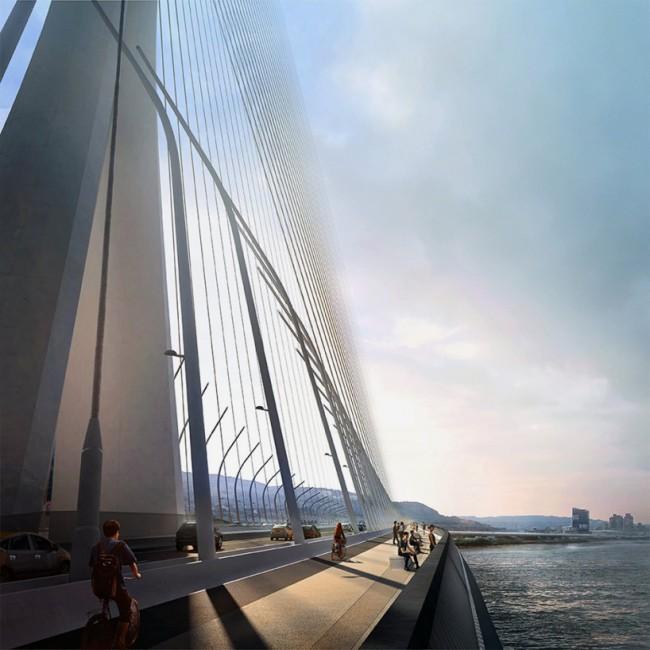 Мост соединит города Бали и Тайбэй. Изображение