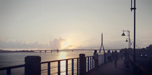 Строительство моста позволит снизить оживленность двух основных автомагистралей