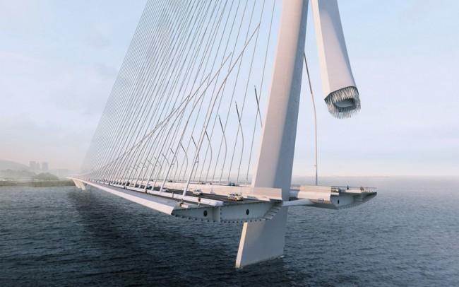 Структурные элементы моста. Изображение © visual arch