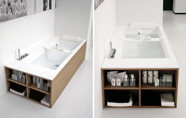 Глухой экран под ванну с открытой боковой частью