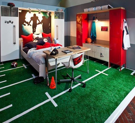 Любителям активных спортивных игр понравится ковер – мини футбольное поле