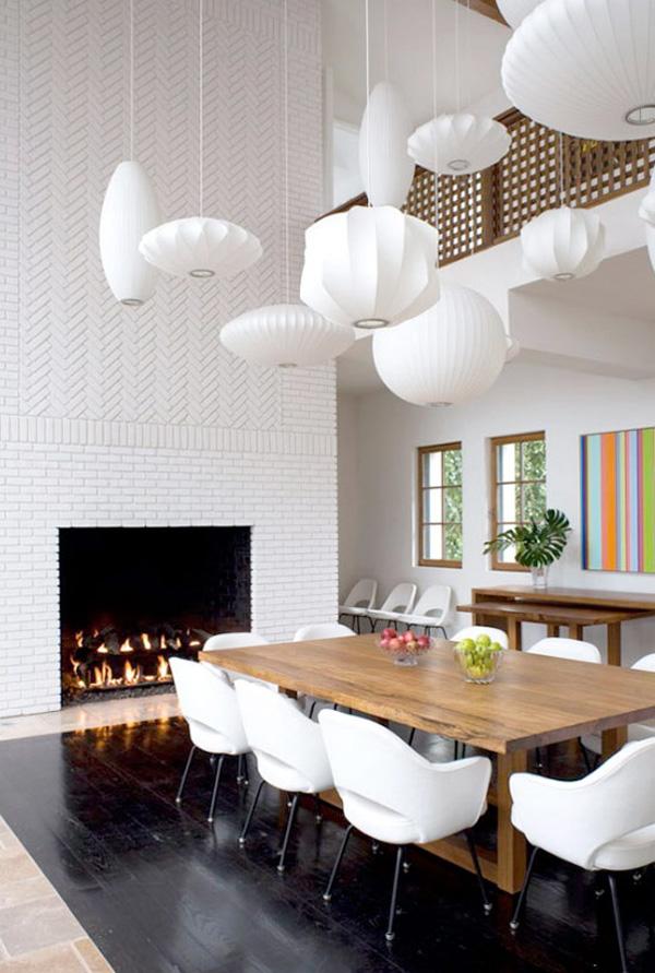 Белоснежные бумажные фонарики придадут воздушности вашему дизайну