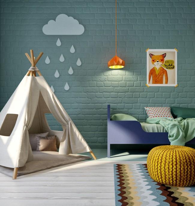 Ковер сможет дополнить атмосферу комнаты представляющую собой собственный мир ребенка