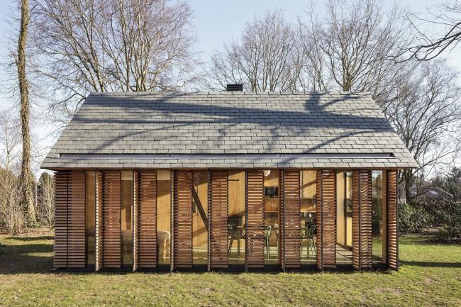 Натуральная отделка из древесных пород подчеркивает чистоту и экологичность