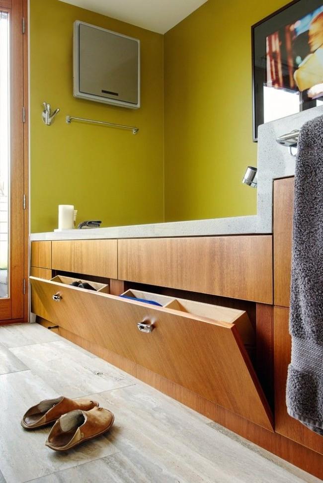 Экраны для ванной - отличный вариант для хранения моющих средств