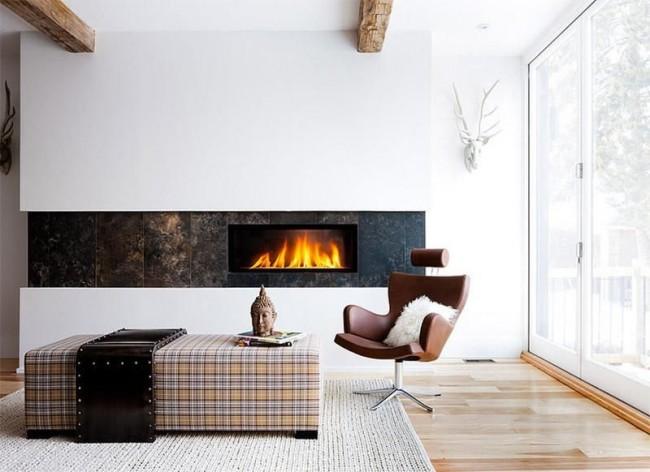 Универсальный способ разнообразить монотонный интерьер - установить электрический камин с эффектом живого пламени.