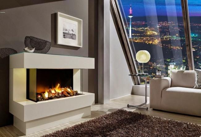 Пример того как можно наполнить теплом холодную обстановку, добавить энергию тепла и света в доме.