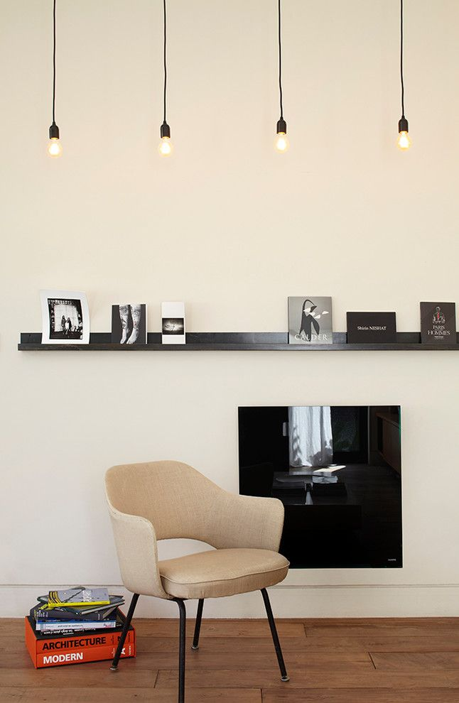 Стильный настенный электрический обогреватель черного цвета