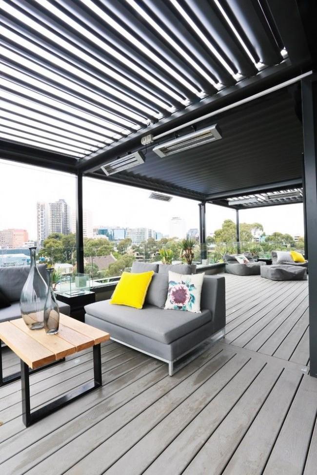 Современные электрические обогреватели позволят приятно проводить время на открытой террасе даже прохладными вечерами