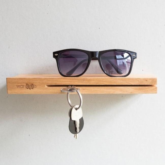 Настенная ключница деревянная