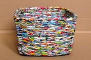 Фото 5 Плетение корзин из газетных трубочек: мастер-классы и советы для рукодельниц