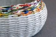 Фото 1 Плетение корзин из газетных трубочек: мастер-классы и советы для рукодельниц