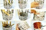 Фото 18 Плетение корзин из газетных трубочек: мастер-классы и советы для рукодельниц