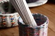 Фото 3 Плетение корзин из газетных трубочек: мастер-классы и советы для рукодельниц
