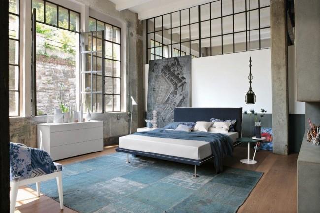 Стильная функциональная мебель в современной спальне