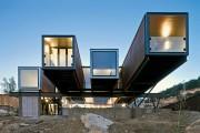 Фото 13 Модульные дома для постоянного проживания (63 фото): эволюция от угловатой бытовки до элитного жилья