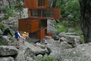 Фото 16 Модульные дома для постоянного проживания (63 фото): эволюция от угловатой бытовки до элитного жилья