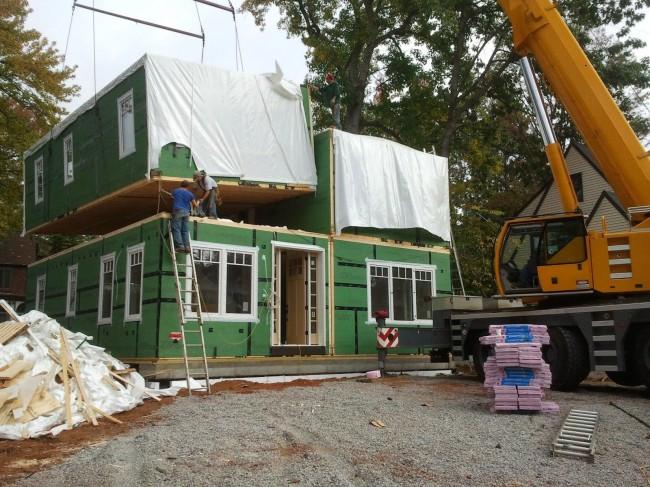 Сборка модульного дома