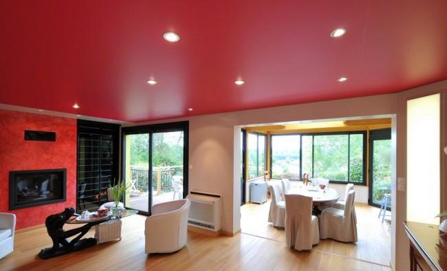 Матовые натяжные потолки придают комнате особый уют, тепло и комфорт