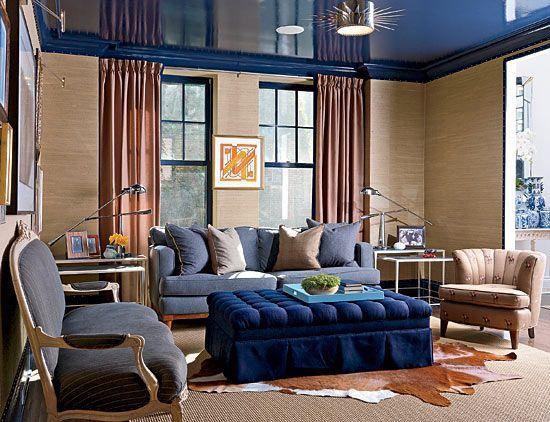 Синий цвет в интерьере - умиротворяющий, расслабляющий и благородный